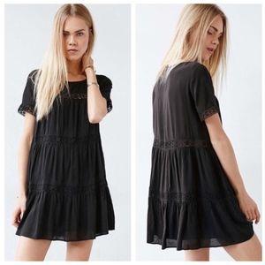 Alice & UO Eleonora Crochet Inset Black Dress